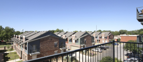 overlooking East Village condos and townhomes Norman OKC
